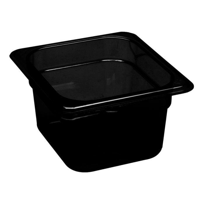 1/6 -Polycarbonate GN Pan 100mm Black