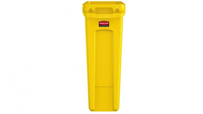 Rubbermaid Vented Slim Jim 87L Yellow