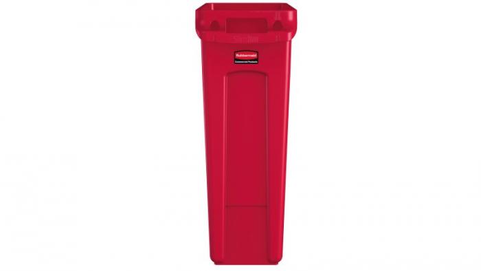 Rubbermaid Vented Slim Jim 87L Red