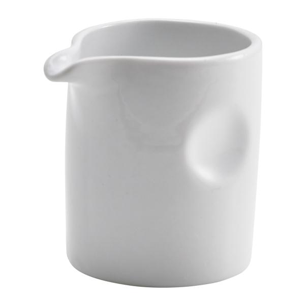 Genware Porcelain Pinched Solid Milk Jug 8.5cl/3oz