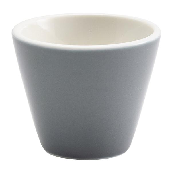 """Genware Porcelain Graphite Conical Bowl 6cm/2.25"""""""