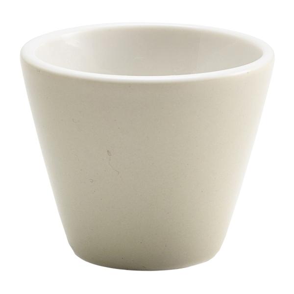 """Genware Porcelain Pebble Conical Bowl 6cm/2.25"""""""