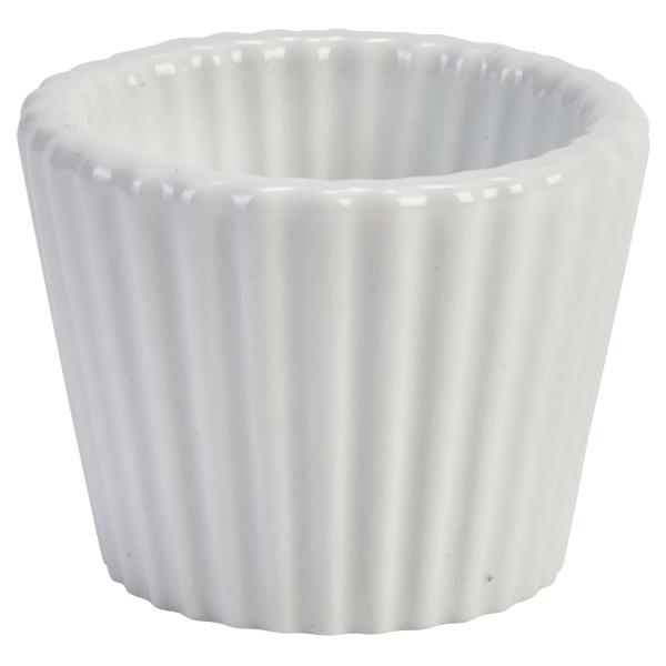 "Genware Porcelain Fluted Ramekin 5.8cm/2.25"""