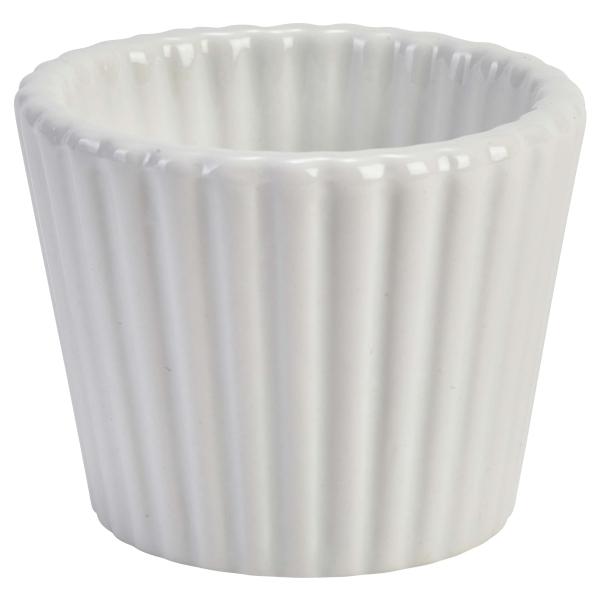 "Genware Porcelain Fluted Ramekin 6.8cm/2.75"""