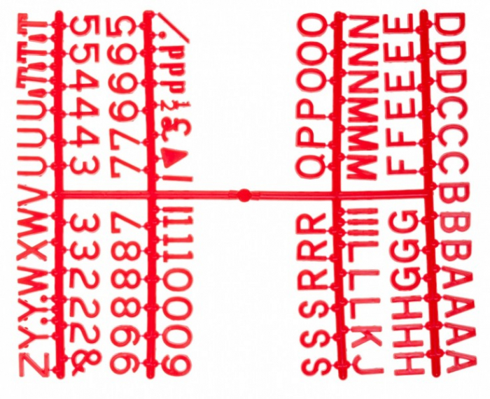 """Design-a-sign 1/2"""" Letter Set Red (660 characters)"""
