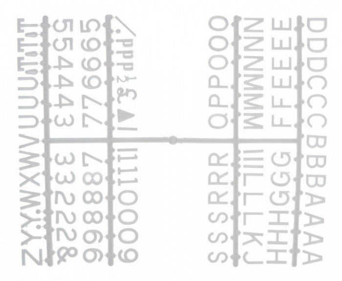 """Design-a-sign 1/2"""" Letter Set White (660 characters)"""