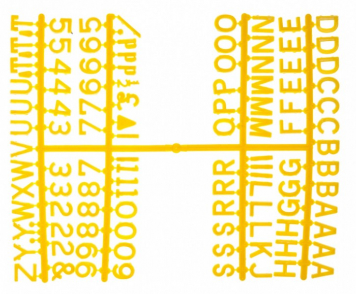 """Design-a-sign 1/2"""" Letter Set Yellow (660 characters)"""