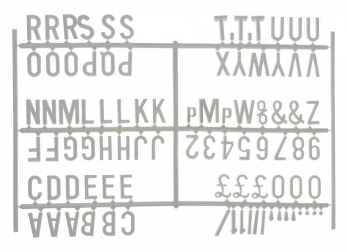 """Design-a-sign 3/4"""" Letter Set White (540 characters)"""