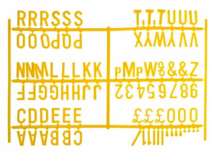 """Design-a-sign 3/4"""" Letter Set Yellow (540 characters)"""