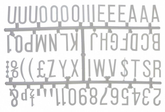 """Design-a-sign 1 1/4"""" Letter Set White (390 characters)"""