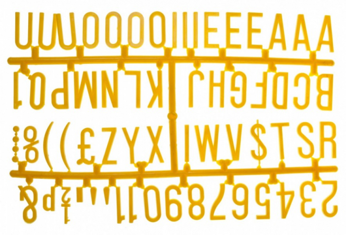 """Design-a-sign 1 1/4"""" Letter Set Yellow (390 characters)"""