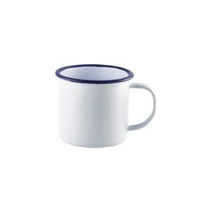Enamel Mug White with Blue Rim 36cl/12.5oz