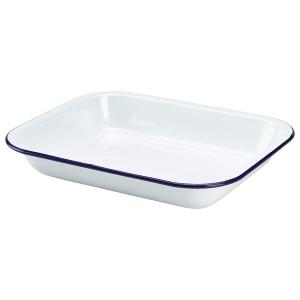 Enamel Baking Tray 28 x 23 x 4.5cm