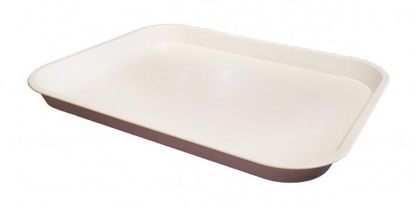 White Medium Plastic Catering Tray 356(L) x 254(W) x 22(D)mm