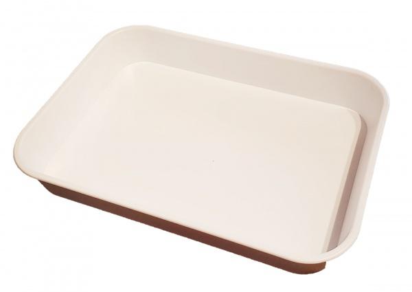 White Deep Sided Plastic Tray 356(L) x 254(W) x 50(D)mm