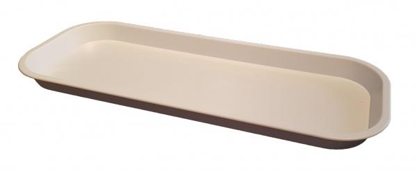 White Long Slim Plastic Tray 381(L) x 152(W) x 22(D)mm