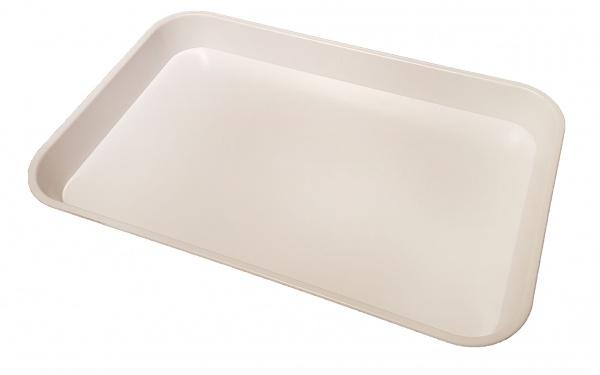 White Large Deep Plastic Tray 432(L) x 279(W) x 38(D)mm