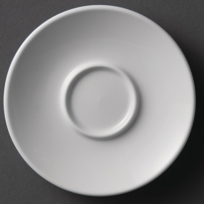Olympia Espresso Saucer White - 120mm for 2oz Cup (Box 12)
