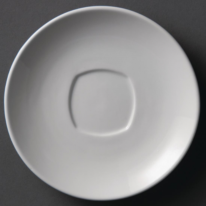 Olympia Rounded Square Saucer White - 150mm for Y115 (Box 12)