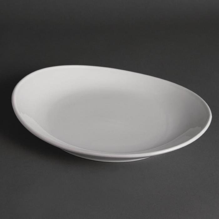 "Olympia Steak Plate White - 306mm 12"" (Box 6)"