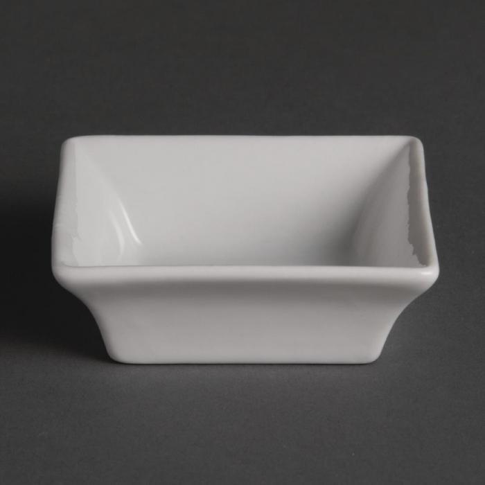 "Olympia Miniature Square White - 75x75mm 3x3"" (Box 12)"