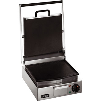 Lincat Lynx 400 Electric Counter-top Single Contact Grill - Smooth Upper & Lower Plates - W 310 mm - 2.25 kW