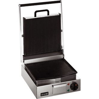 Lincat Lynx 400 Electric Counter-top Single Ribbed Grill - Ribbed Upper & Smooth Lower Plates - W 310 mm - 2.25 kW