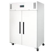 Polar Solid Double Door FREEZER White Exterior - 1200Ltr (UK)