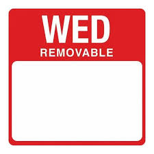 Removable Day Labels Wednesday