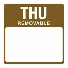Removable Day Labels Thursday