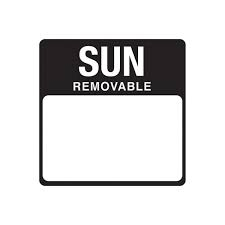 Removable Day Label Sunday