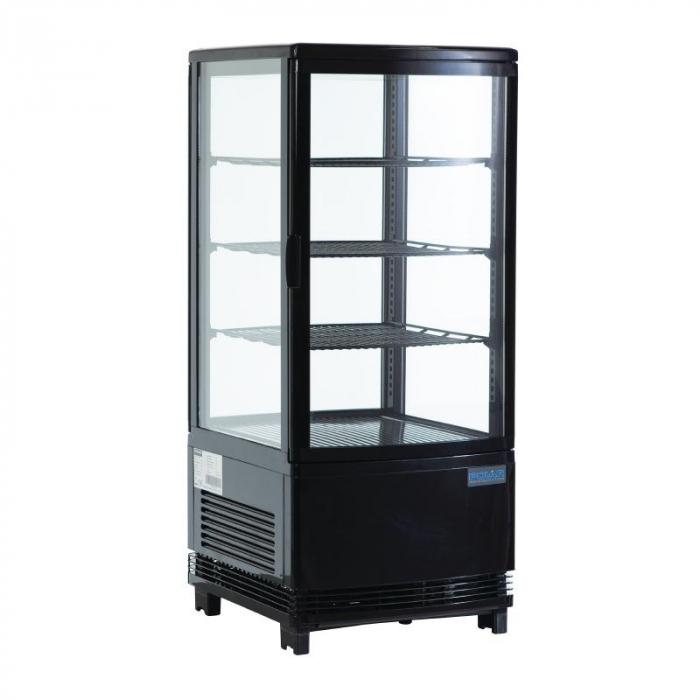 Polar Chilled Display REFRIGERATOR Cabinet Black - 68Ltr