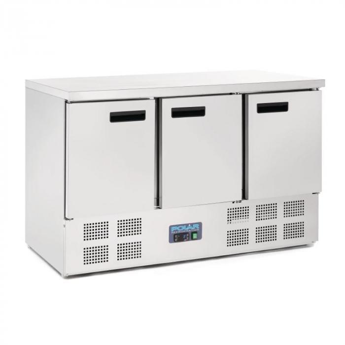 Polar 3 Door Counter Refrigerator with Compressor Underneath (UK)