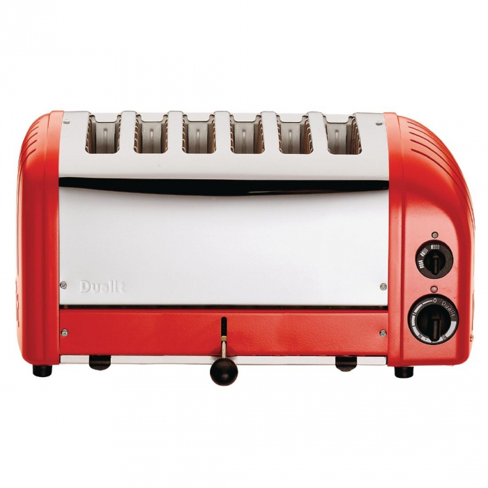 Dualit Bread Toaster 6 Slice Red