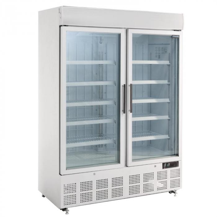 Polar Double Door Display FREEZER with Light Box - 920Ltr