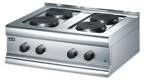 Lincat Silverlink 600 Electric Counter-top Boiling Top - 4 Plates - W 750 mm - 7.0 kW