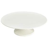 "White Melamine Cake Stand 33cm/13"""