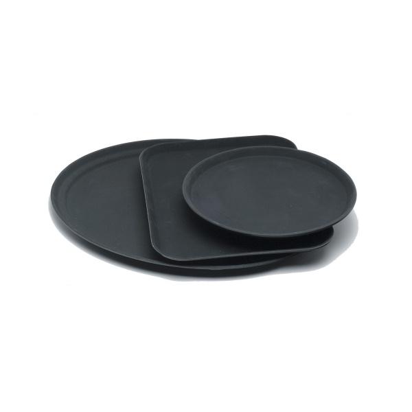 "Gengrip 11"" Round Non-Slip Tray Black"