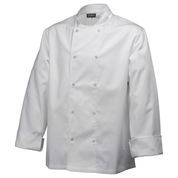 Basic Stud Jacket (Long Sleeve) White L Size