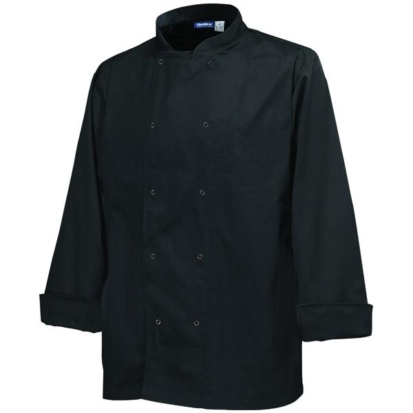 Basic Stud Chef Jacket (Long Sleeve) Black