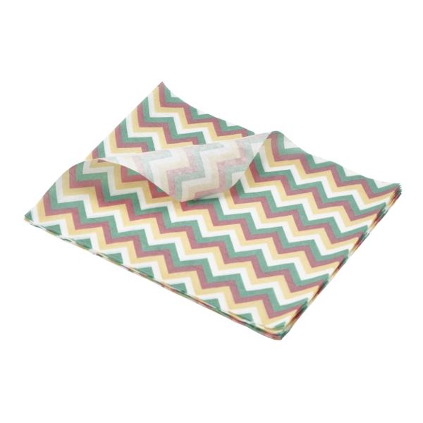 Greaseproof Paper Multicoloured Chevron Print 25 x 20cm