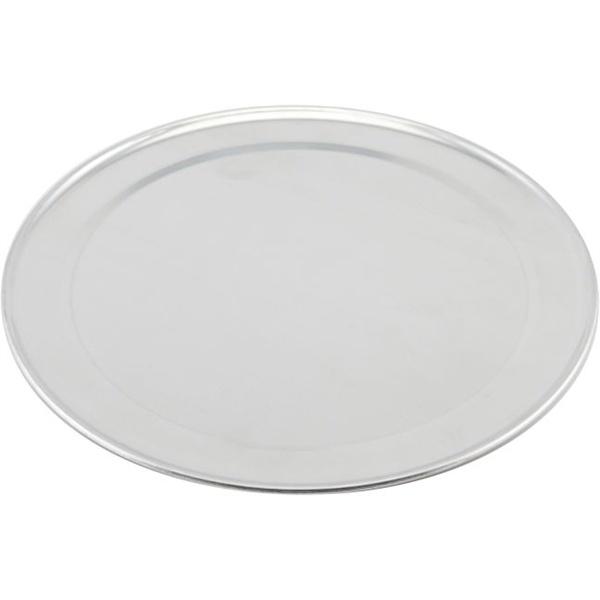 "Genware Alum. Flat Wide Rim Pizza Pan 14"""