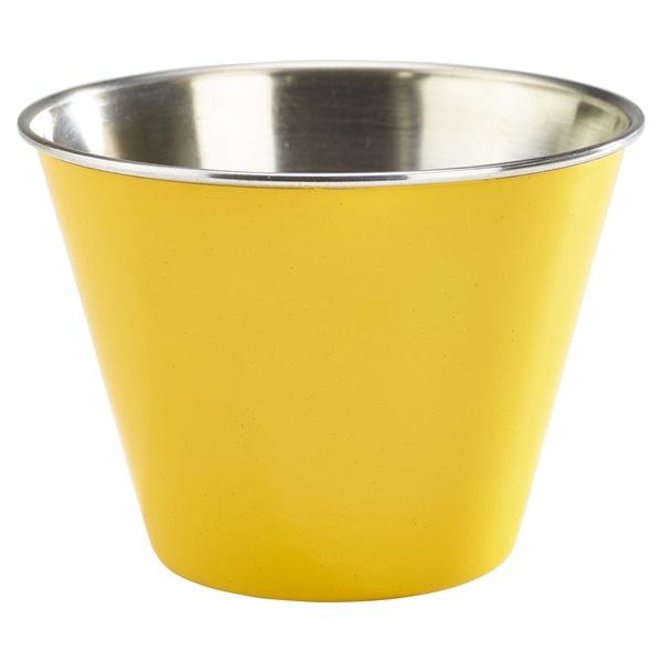 12oz Stainless Steel Ramekin Yellow