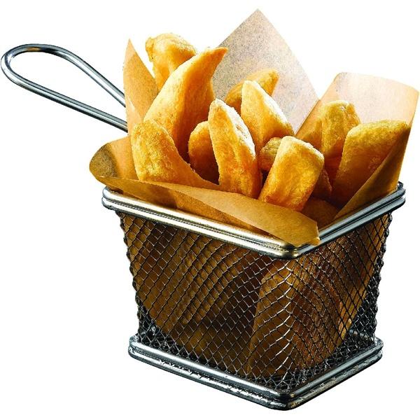Serving Fry Basket Rectangular 10 X 8 X 7.5cm