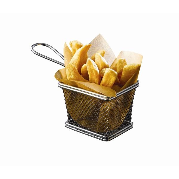 Serving Fry Basket Rectangular 12.5 X 10 X 8.5cm