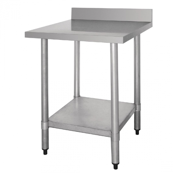 Vogue St/St Wall Table 60mm Upstand - 600x600mm