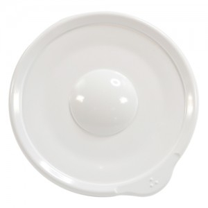 Omni White Saucer with White Rim 140x130x18mm