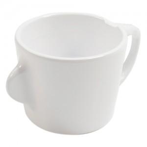 Omni White Cup w/White Handle 130x90x70mm 200ml