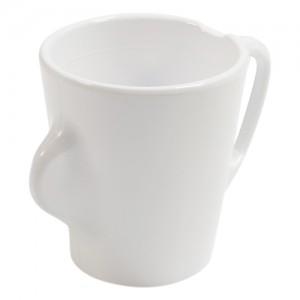 Omni White Mug w/White Handle 135x90x100mm 300ml