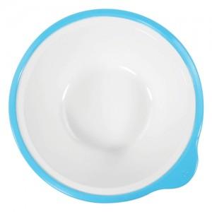 Omni White Bowl with Blue Rim 180x170x50mm 400ml